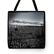 Beach And Fence Tote Bag