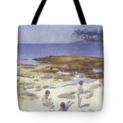 Beach At Cabasson Tote Bag