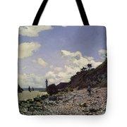 Beach At Honfleur Tote Bag by Claude Monet
