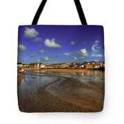 Beach At Perranporth Tote Bag