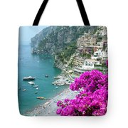 Beach At Positano Tote Bag