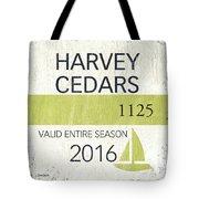 Beach Badge Harvey Cedars Tote Bag