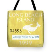 Beach Badge Long Beach Island 2 Tote Bag