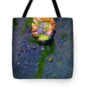 Beach Barnacle Flower Tote Bag
