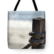 Beach Barrier Tote Bag