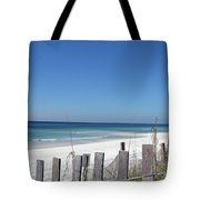 Beach Behind The Fence Tote Bag
