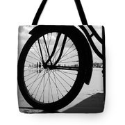 Beach Bicycle Tote Bag