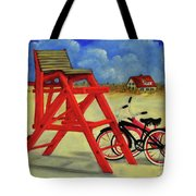 Beach Bikes Tote Bag