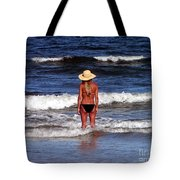 Beach Blonde - Digital Art Tote Bag