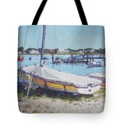 Beach Boat Under Cover Tote Bag