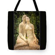 Beach Buddies Blue Water Sand Sculpture Tote Bag