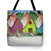 Beach Bungalows Tote Bag