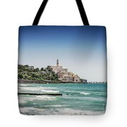 Beach By Jaffa Yafo Old Town Area Of Tel Aviv Israel Tote Bag