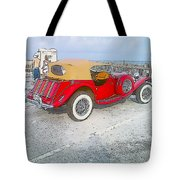 Beach Car Tote Bag