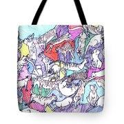 Beach Cats Tote Bag