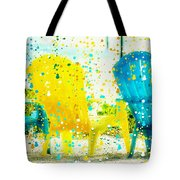 Beach Chair Print Tote Bag