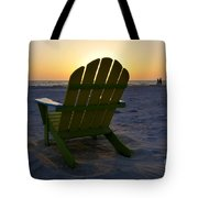 Beach Chair Sunset Tote Bag