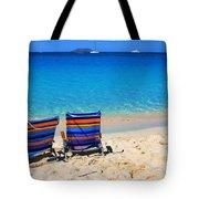 Beach Chairs Tote Bag