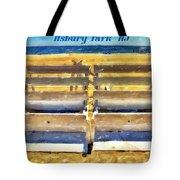 Beach Closed Asbury Park Nj Tote Bag