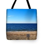 Beach Closed Tote Bag