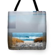 Beach Collage Tote Bag