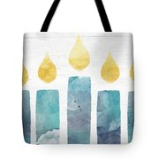 Beach Colors Menorah- Art By Linda Woods Tote Bag