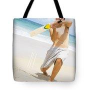 Beach Cricket Slog Tote Bag