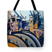 Beach Cruisers At Dawn Tote Bag