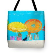 Beach Decor - Umbrellas Panorama Tote Bag