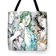 Beach, Digital Tote Bag
