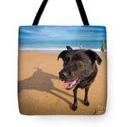Beach Dog Tote Bag