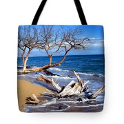 Beach Driftwood Fine Art Photography Tote Bag