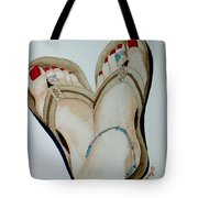 Beach Feet Tote Bag