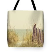 Beach Fence In Grassy Dune South Carolina Tote Bag
