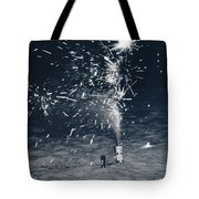 Beach Fire Works Tote Bag