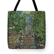 Beach Gate In The Morning Tote Bag