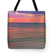 Beach Girl And Sunset Tote Bag