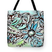 Beach Glass Flowers 1- Art By Linda Woods Tote Bag