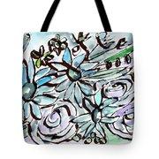Beach Glass Flowers 2- Art By Linda Woods Tote Bag