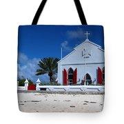 Beach Grand Turk Church Tote Bag