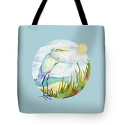 Beach Heron Tote Bag