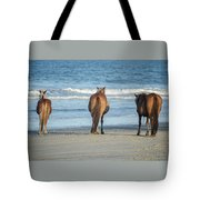 Beach Horses Tote Bag