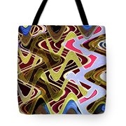 Beach Hotel Abstract 8102-1 Tote Bag