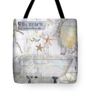 Beach House Bath Tote Bag