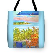 Beach House On The Bay Tote Bag
