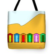 Beach Huts And Sand Tote Bag