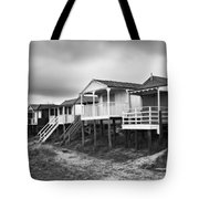 Beach Huts North Norfolk Uk Tote Bag by John Edwards
