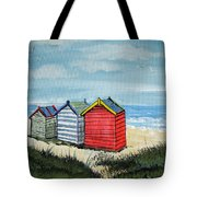 Beach Huts On The Sand Tote Bag