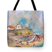 Beach In Ericeira In Portugal Tote Bag