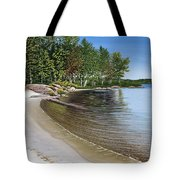 Beach In Muskoka Tote Bag